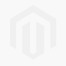 Silver brooch white braided struts small