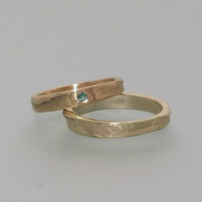 wedding rings in fair trade gold