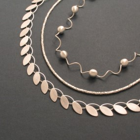 silver necklace without allergic reactions